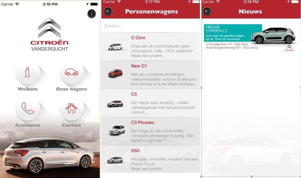 Manage your own app: post nieuwtjes, nieuwe producten in stock, openingsuren.