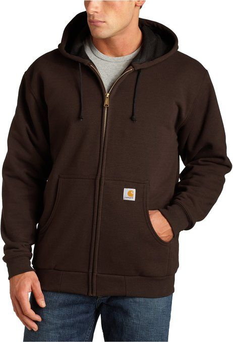 carhartt men s thermal lined hooded zip front sweatshirt on men s insulated coveralls with hood id=99483