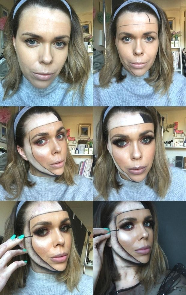 Special effects makeup step by step special effects