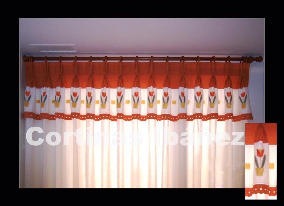 Cortinas de visillo de cocina con volante confeccionado - Cortinas de cocina ...