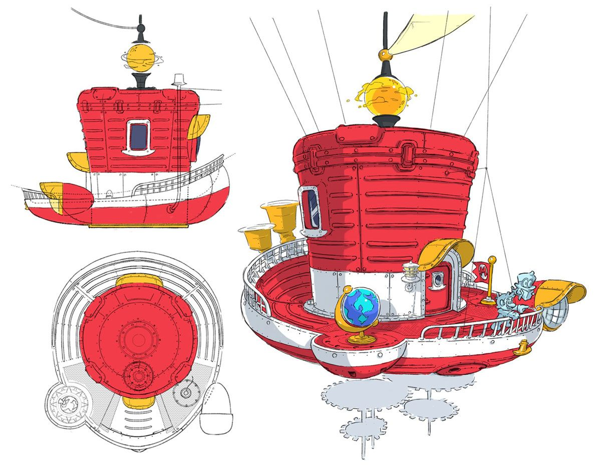 Odyssey Ship Concept From Super Mario Odyssey Super Mario Art
