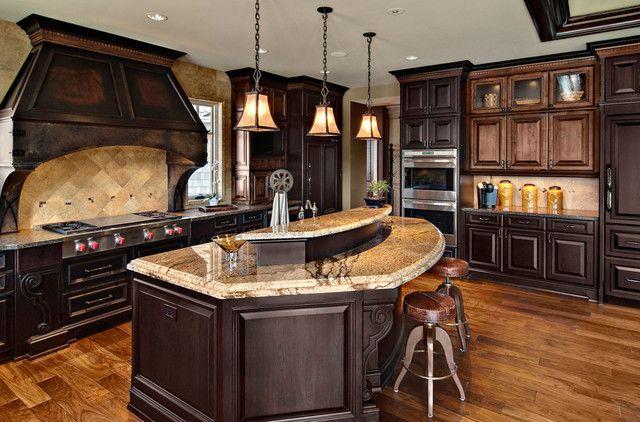 This One Too Fantasy Home And Garden  Pinterest Gorgeous Dark Kitchens Designs Design Inspiration