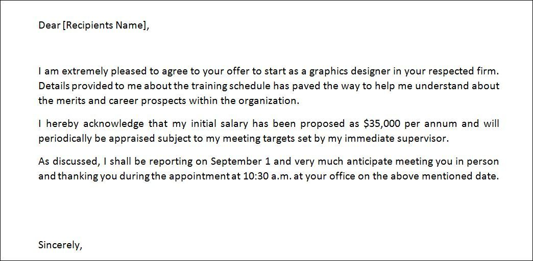 A Job Offer Letter Is One Such Document That Is Used To