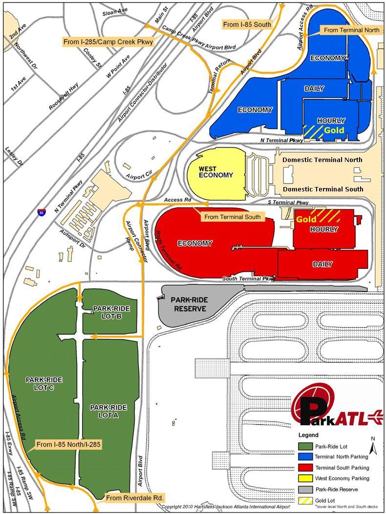 Atlanta Airport Parking Map | Hartsfield-Jackson Atlanta ...
