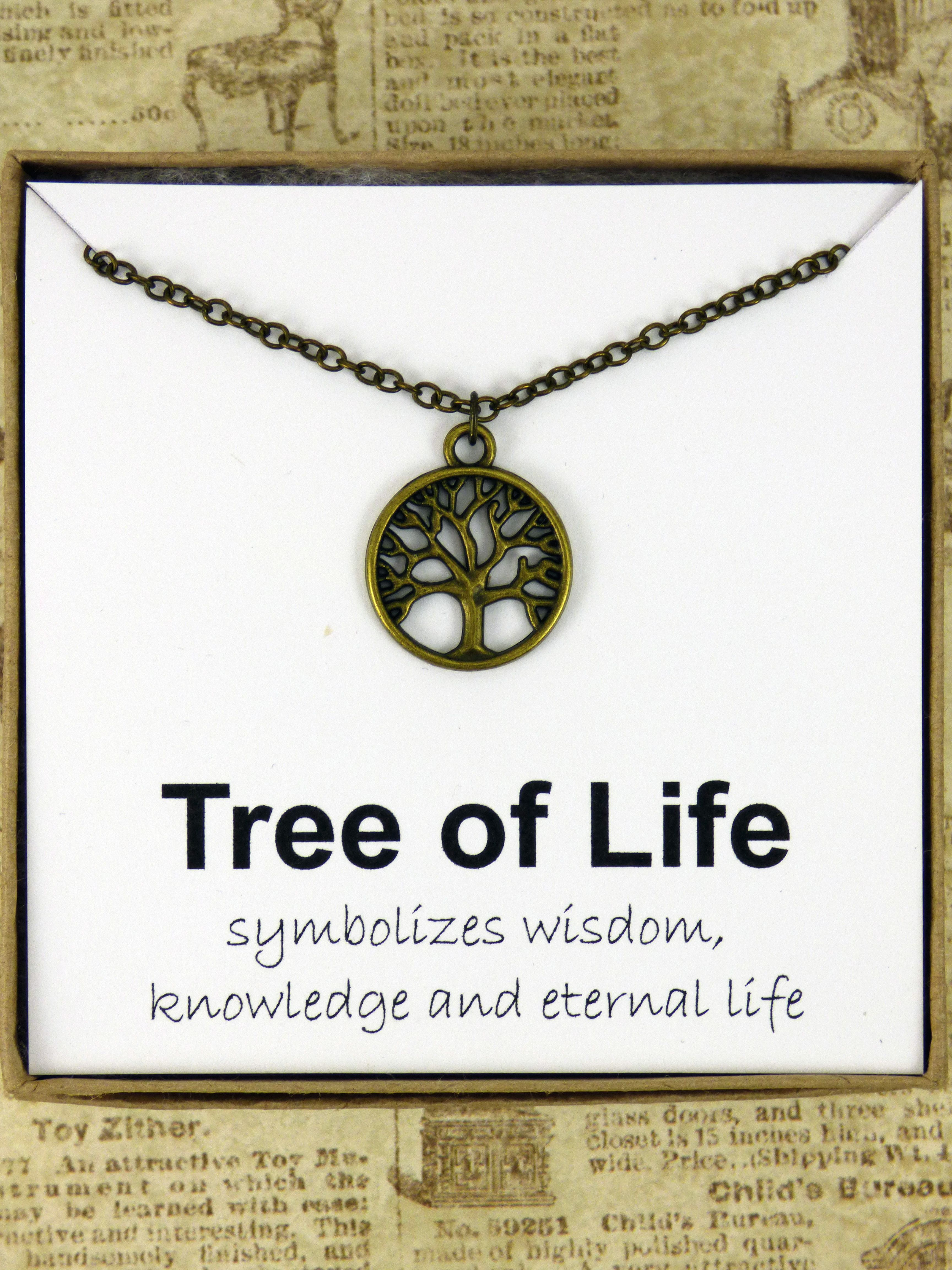 Meaningful Tree Of Life Necklace It Is A Symbol Of Wisdom