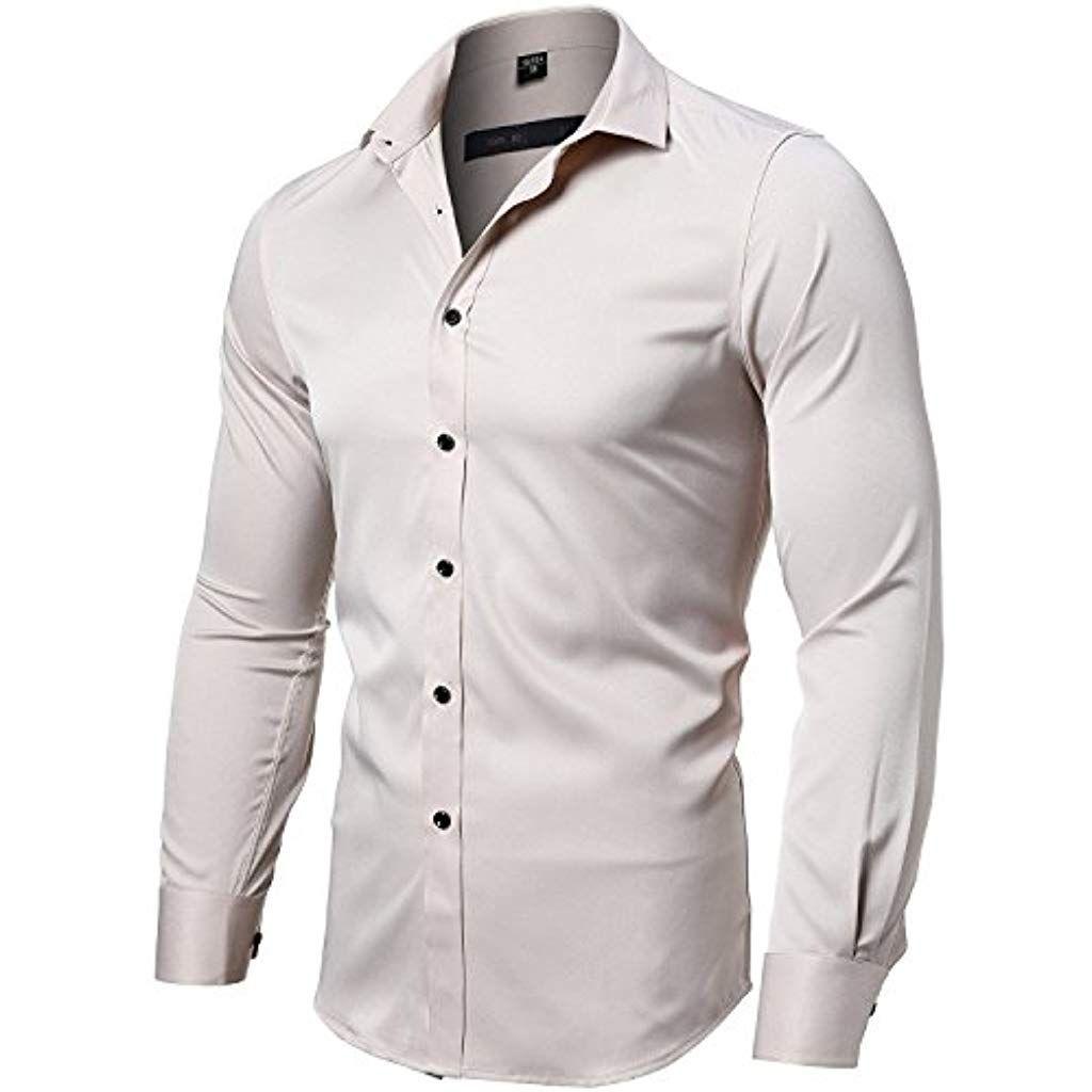 1 Herren Langarm Shirt Business Freizeit Hemd Hochzeit Oberhemd  new