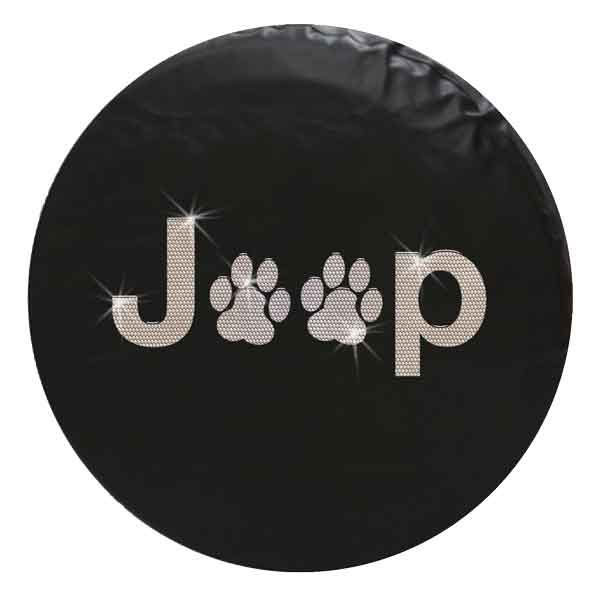 Jeep Paw Print Bling Crystal Rhinestone Spare Tire Cover Jeep Spare Tire Covers Jeep Cars Jeep Tire Cover