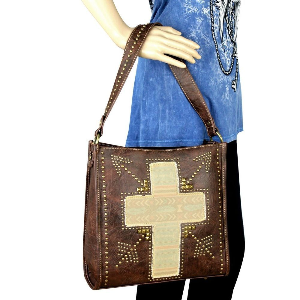 Montana West Handbag Coffee Cross Arrow Handbag Purse Southwestern Cowgirl #MontanaWest #ShoulderBag