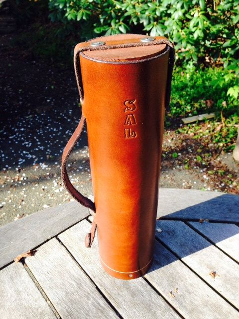 """Leather Bottle Holder - The """"Whiskey / Wine Case"""" - Wine ..."""