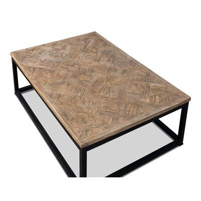 Sarreid Ltd Parquet Low Table Dark Brown 48 X 32 Table Low Tables