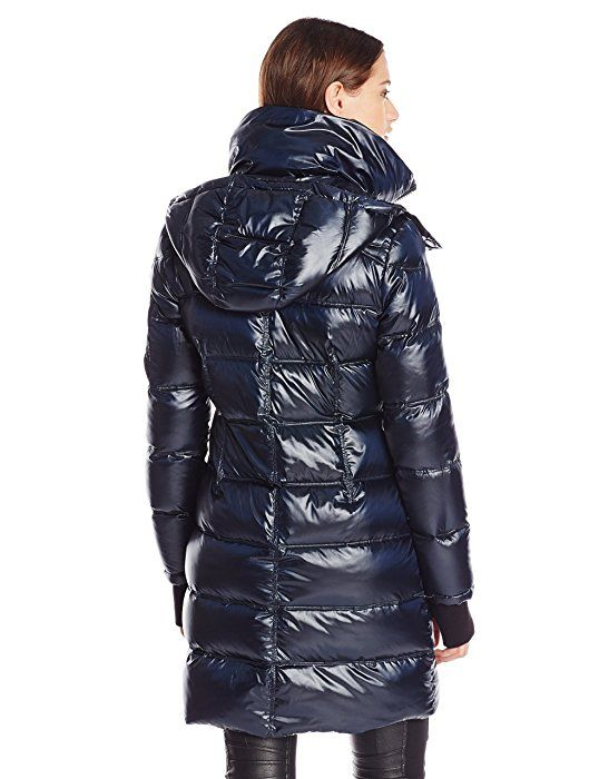 reputable site 2020b 5e65e BCBGMAXAZRIA Women's Metallic Down Coat, Black, XS | Oh ...
