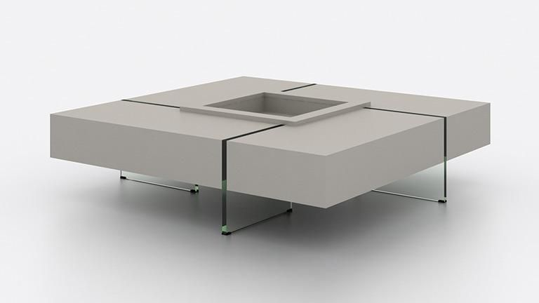 Table Basse Carree Avec Pieds En Verre Crystalline Table De Salon Table Basse Carree Table Basse