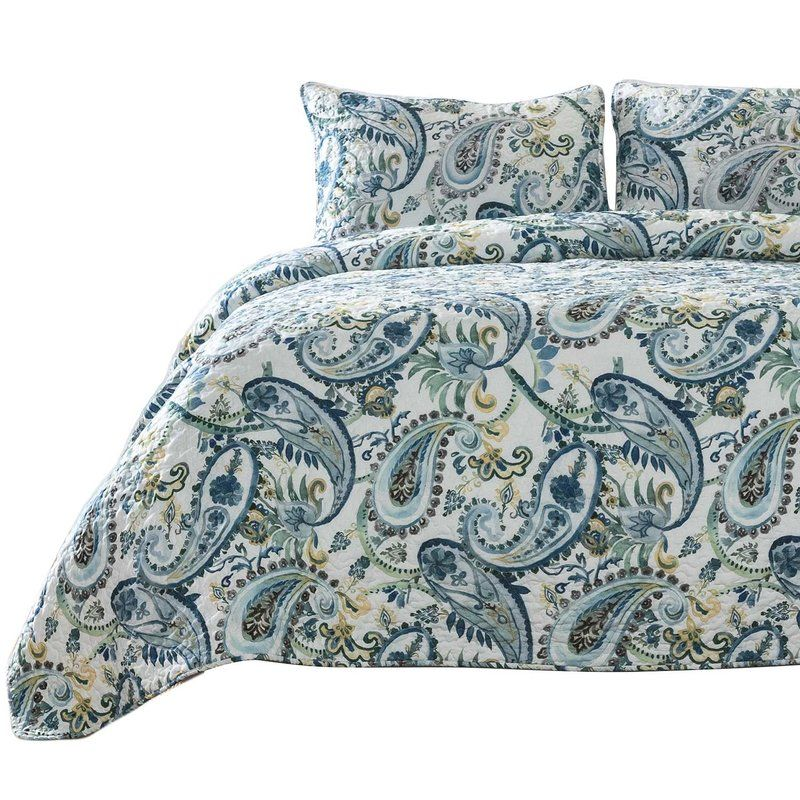 Torres Watercolor Paisley Quilt Set Paisley Quilt Quilt Sets