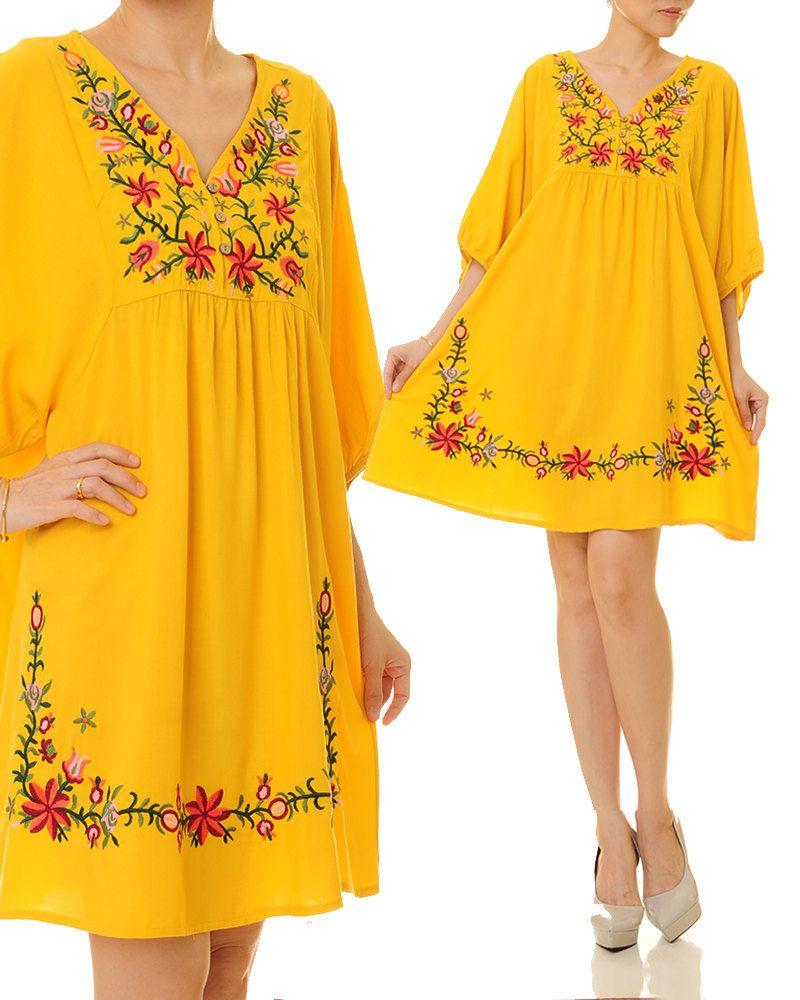 Mexican embroidered dress embroidery dress yellow mexican mexican embroidered dress embroidery dress yellow mexican dress embroidered maternity dress oaxaca ombrellifo Image collections