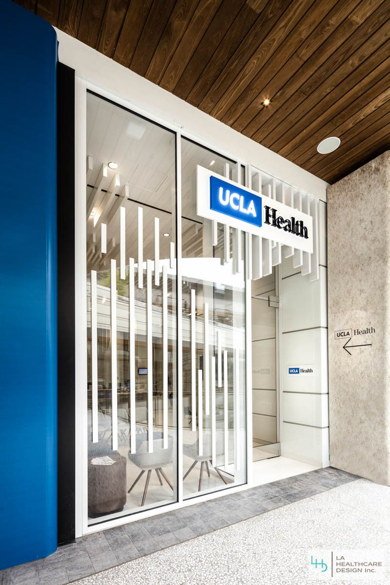 Awesome UCLA Primary Care Center Entrance. UCLA Health Center Interior Design  Project   Century City,