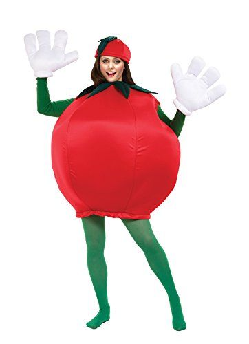 Target Costumes For Adults: UHC Womens Comical Tomato Outfit Funny Theme Party Adult