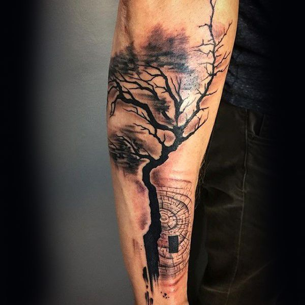 abstract forearm guys tree tattoos tattoos pinterest tattoo rh pinterest com au Abstract Swirl Tattoo Abstract Line Tattoos