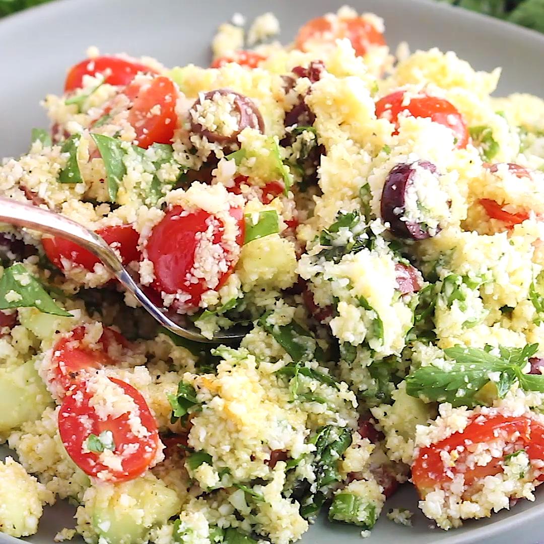 Cauliflower Tabbouleh #chickensidedishes