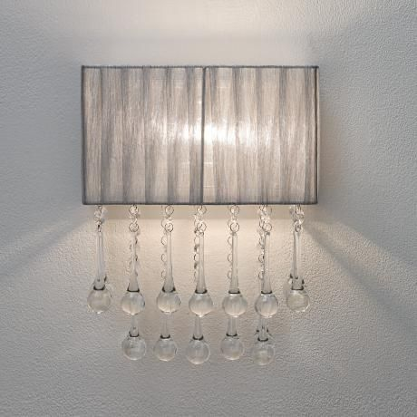 Possini Euro Design Silver And Crystal 14 High Wall Sconce High