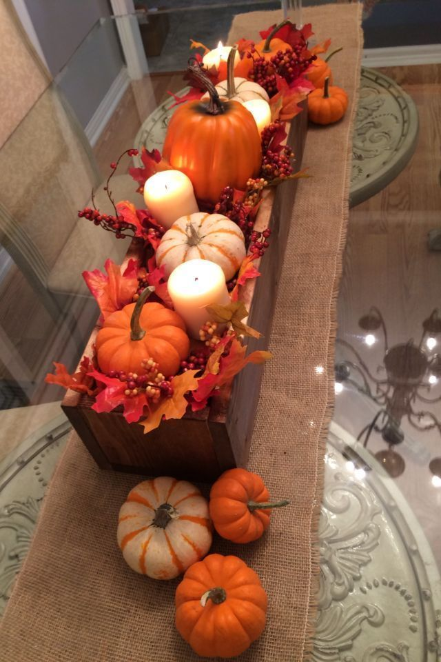DIY Fall Centerpiece Box
