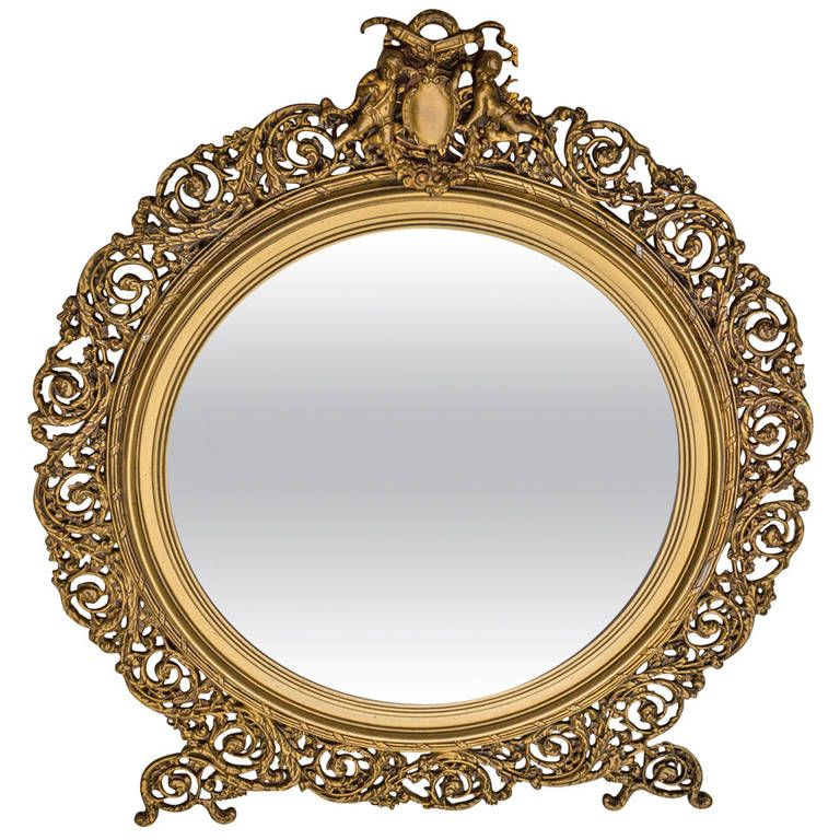 19th C French Bronze Mirror In 2019 Used Furniture