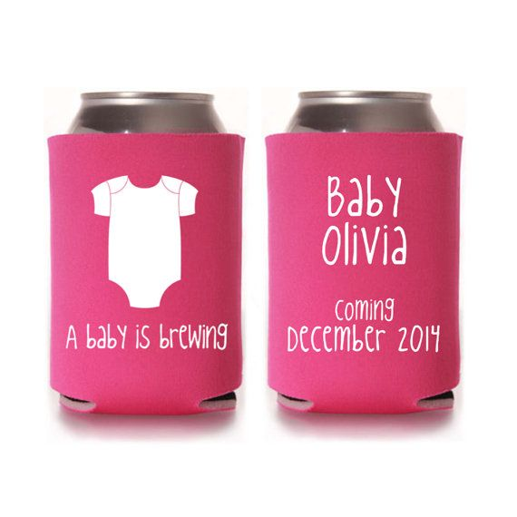 Baby Shower Koozie Favors ~ Baby shower favors a is brewing personalized can