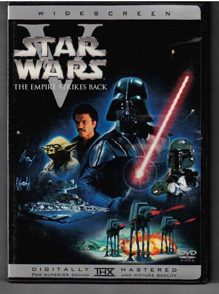 Star Wars Episode V Empire Strikes Back Dvd Out Of Print Rare Widescreen Oop Star Wars Movies Posters Star Wars Episodes Star Wars Episode Ii