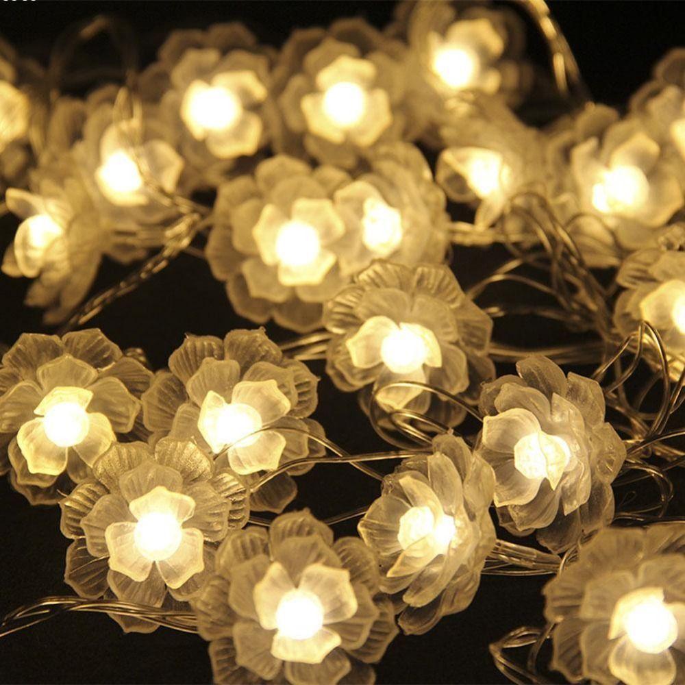 Led-lichterketten  or led warm white camellia battery led string christmas fairy