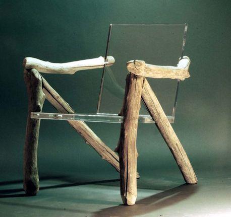 Transparent Plastic Wooden Chair Instagram Com Misskaralederman With Images Acrylic Furniture Organic Furniture Unique Chair