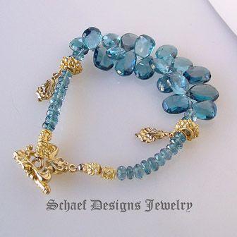 Schaef Designs London Blue Topaz & 24kt gold vermeil gemstone bracelet | New Mexico