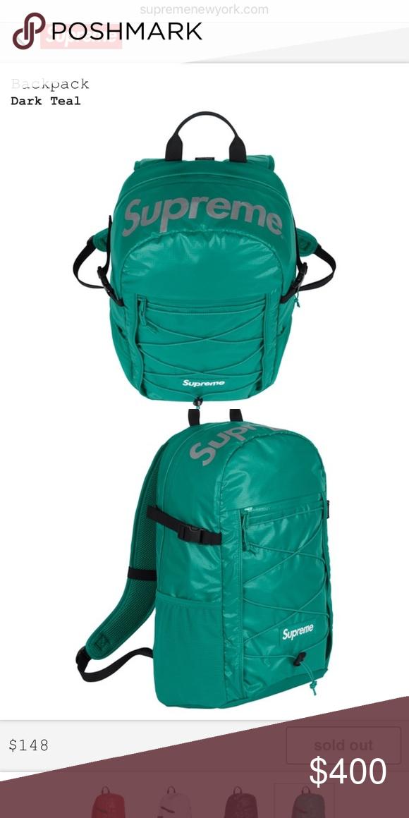 27b26d18a1 Supreme Backpack Teal Supreme Bags Backpacks