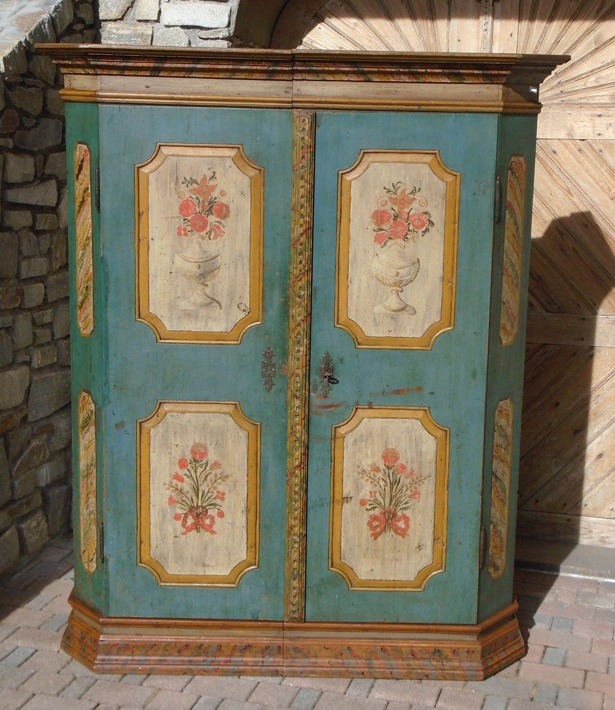 Armadio dipinto - prov. Alto Adige | Antichità Evelina - Vendita ...