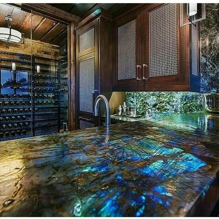 Labradorite Countertop ♡♡♡ Gemstone Countertops Kitchen