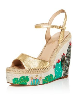 573200342ad KATE SPADE Dallas Embroidered Platform Wedge Sandals.  katespade  shoes   sandals