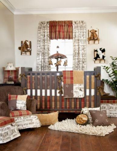 Glenna Jean Carson Baby Bedding Crib Set 8pc Cowboy Country Western Rustic Cabin Ebay Rustic Baby Rooms Baby Room Decor Baby Crib Bedding