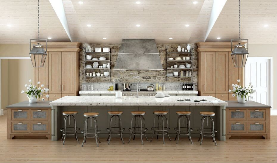 64 Deluxe Custom Kitchen Island Designs (BEAUTIFUL) | Galley ...
