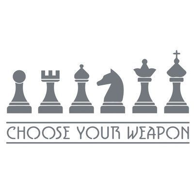"The Decal Guru Chess Weapons Wall Decal Size: 23"" H x 45"" W x 0.01"" D, Color: Storm Gray"