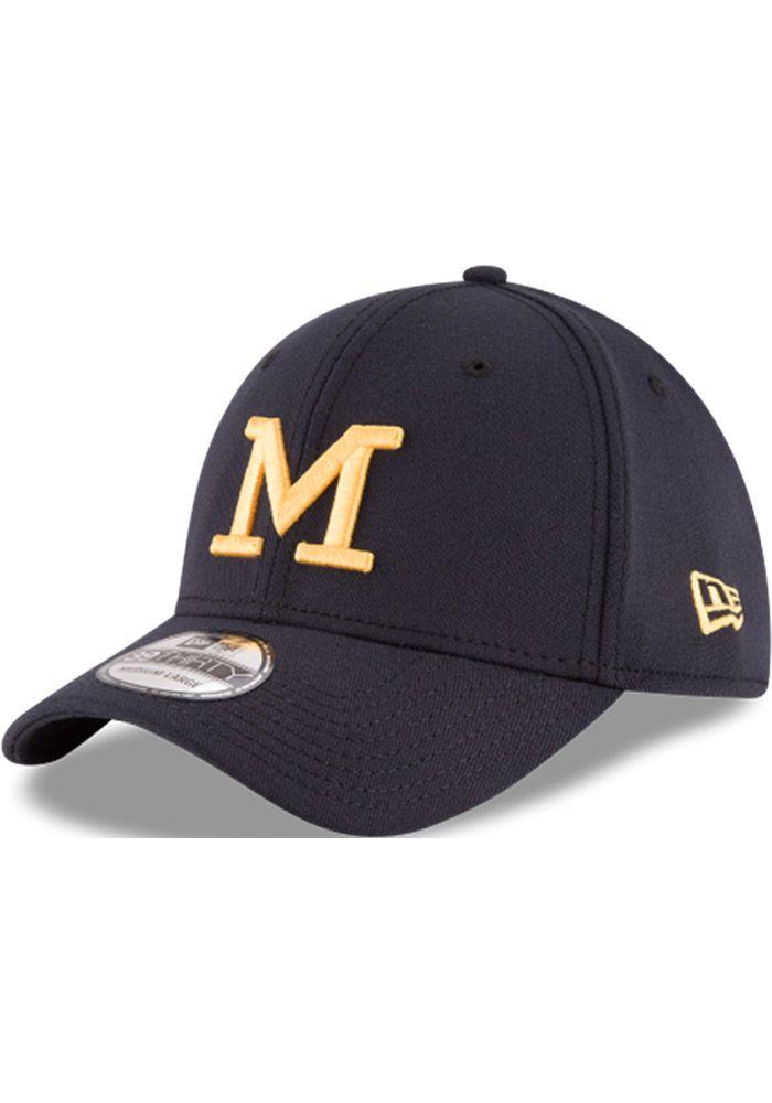 b9c40d2c New Era Michigan Wolverines Mens Navy Blue Classic 39THIRTY Flex Hat ...