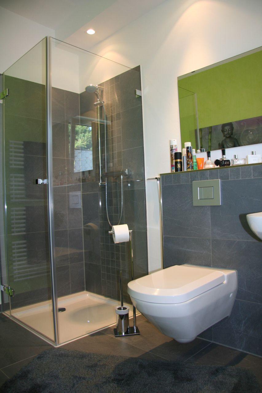 Bodentiefe Dusche mit Duschwanne Badezimmerideen