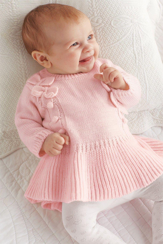 Baby Bow Lace Tutu Dress - Sweater Dress - Flower Baby Dress-Girls ...