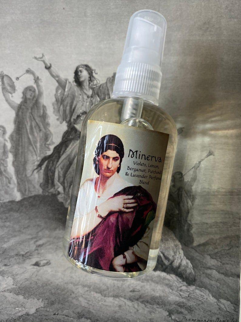 Minerva Gothic Halloween Perfume Spray Body Vegan Etsy