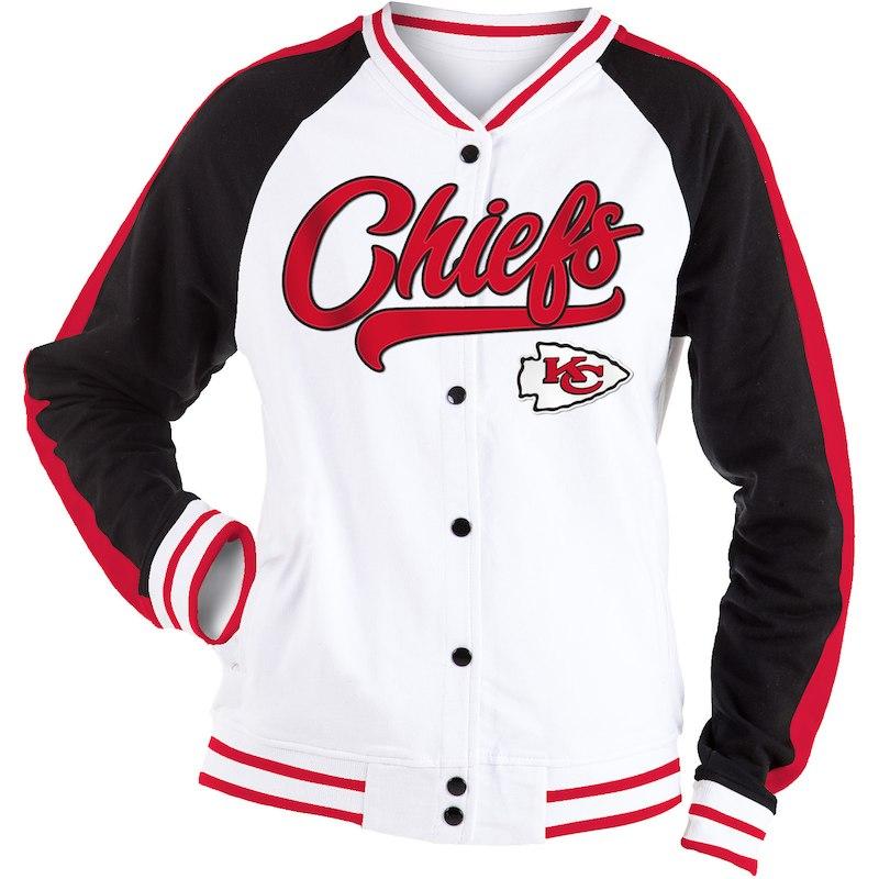 7b5d8c6e Kansas City Chiefs New Era Women's Varsity Full Snap Jacket - White ...