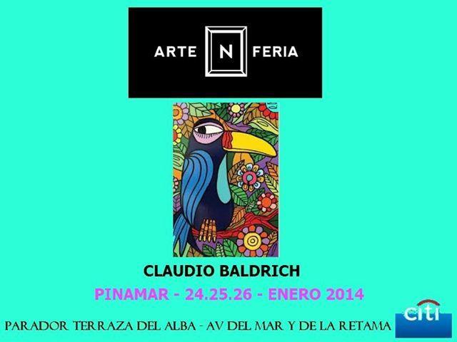Claudio Baldrich En Pinamar Exposicion De Obras Y Accion En