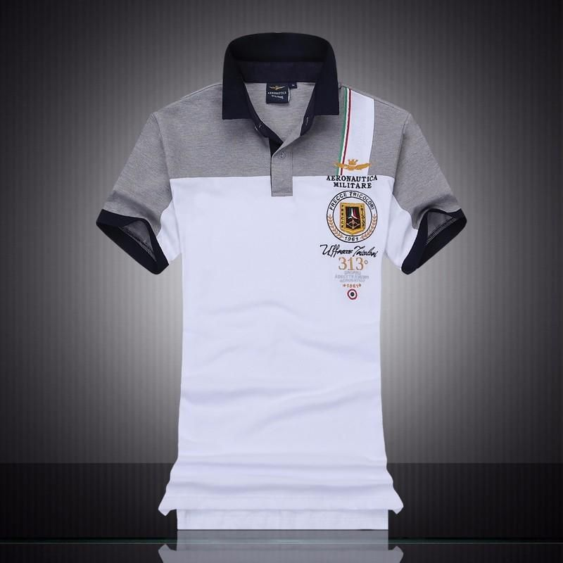 6e87cae712f summer new men s boutique embroidery breathable 100% cotton polo shirt  lapel Men s Air Force One