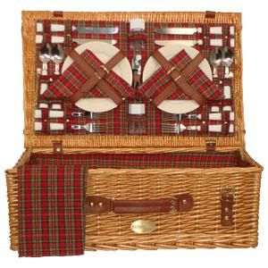 Sutherland Majestic Picnic Basket for 4