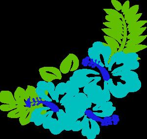 hawaiian flower clip art blue green tropical flowers clip art rh pinterest com hawaiian flowers clip art free hawaiian flower clip art free images