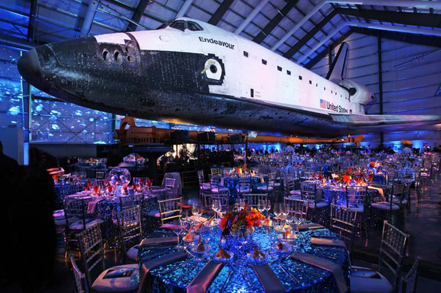 You Can Throw A Party Underneath Real E Shuttle At The California Science Center