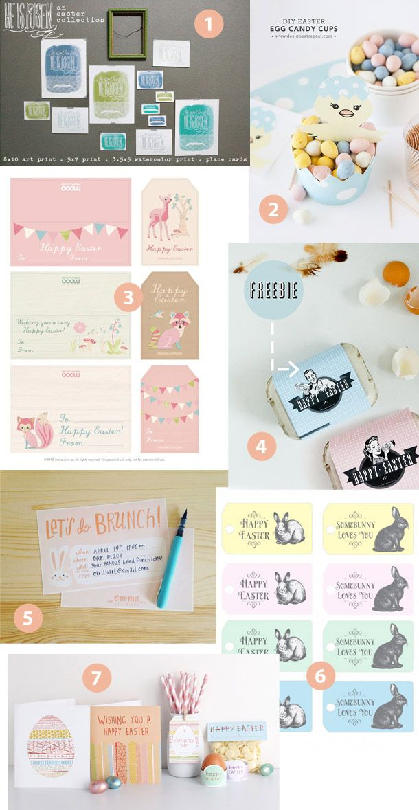 Free #Easter Printables - art prints, tags and more.