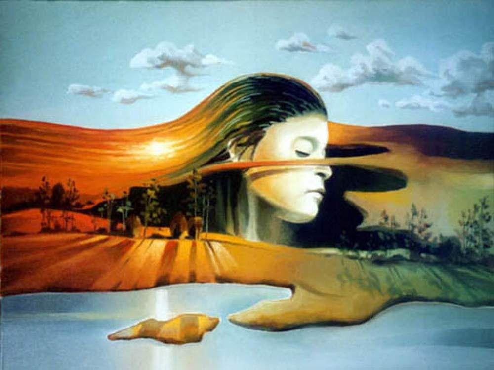 Landschaftsmalerei surrealismus  Gregor Ziolkowski: Traum 2 | Traumwelten | Pinterest | Gregor ...