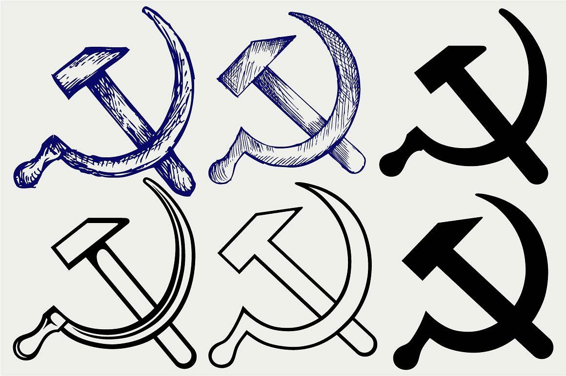 Hammer And Sickle Svg Hammer And Sickle Pencil Illustration Small Tattoo Designs